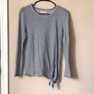 Madewell Soundcheck stripe tie side top size M